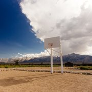 Photo of Manzanar National Historic Site - Independence, CA, United States. Nothing more American than basketball. Except the detainees weren't really treated as Americans.