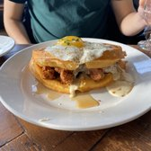 Photo of Revival - Minneapolis, MN, United States. Chicken + Waffle Breakfast Sandwich ($13)