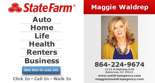Maggie Waldrep State Farm Insurance Agent 2119 N Highway 81 A Anderson Sc Insurance Mapquest