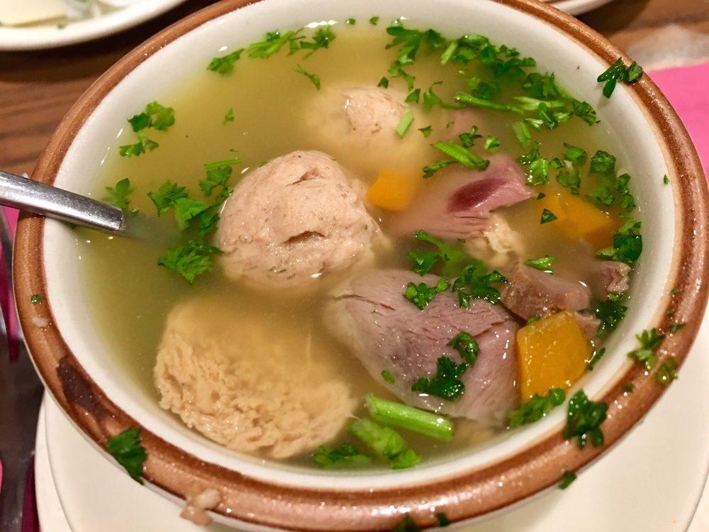 Photo of Bohemian Crystal Restaurant - Westmont, IL, United States. Liver dumpling soup