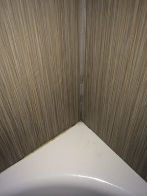 Photo of Days Inn Downtown / at the Stadium - Nashville, TN, US. Grout/workmanship issues and mold