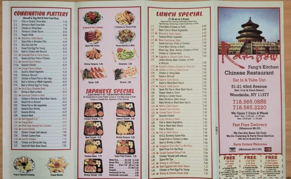 Rainbow Fang S Kitchen Closed 30 Reviews Japanese 51 21 43rd Ave Woodside Ny United States Restaurant Reviews Menu