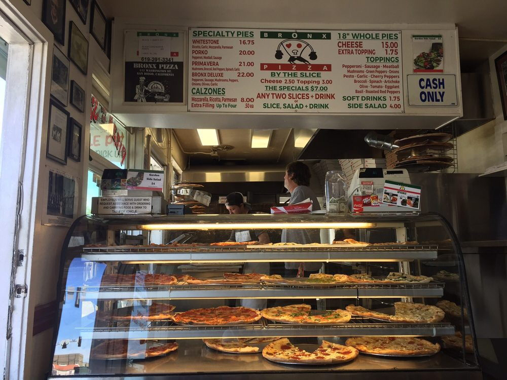 Photo of Bronx Pizza - San Diego, CA, United States. Front door and counter.