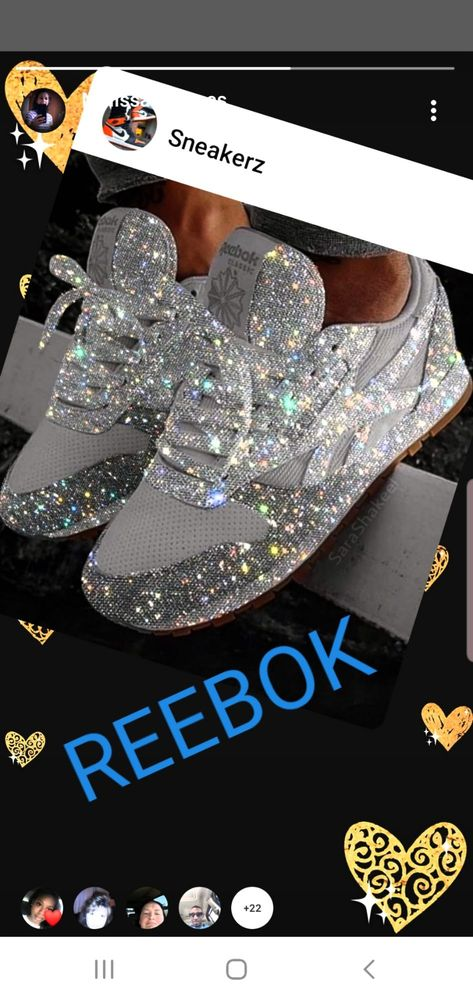 blinged out reebok classics - 53% OFF