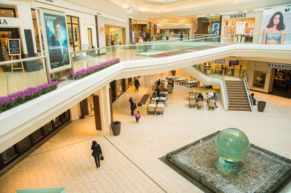 Photo of The Mall at Short Hills - Short Hills, NJ, US. The iconic ball fountain in The Mall at Short Hills