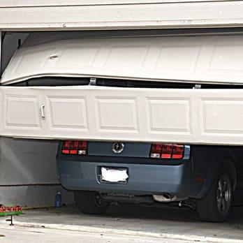 Damaged Garage Door, Bent Garage Door Sections, Garage Door Panels Bay Area Overhead Door