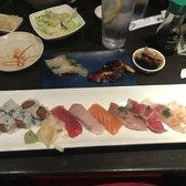 Photo of Hanami Sushi - Sherman Oaks, CA, United States. Chef's choice Sushi combination. Halibut and unagi nigiri. Sooooo good!