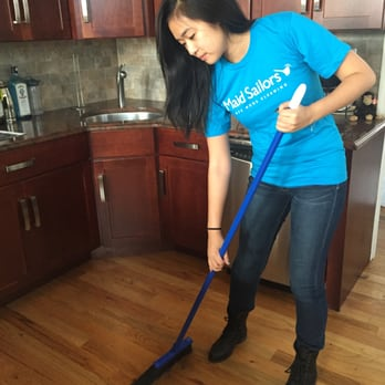 Sweeping an apartment Maid Sailors Cleaning Service 257 ...