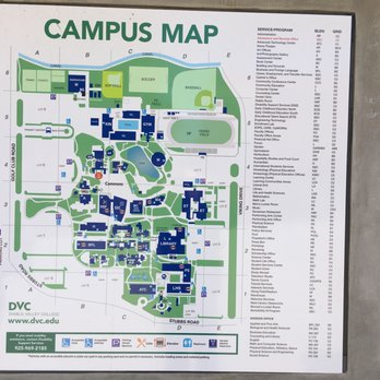 DVC Campus Map - Yelp on san ramon dvc campus, dvc concord campus, pleasant hill ca, map of southeastern technical college campus,