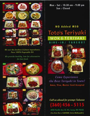 Totos Teriyaki Wok Takeout Delivery 26 Photos 36 Reviews Chinese 6020 Pacific Ave Se Lacey Wa United States Restaurant Reviews Phone Number Yelp