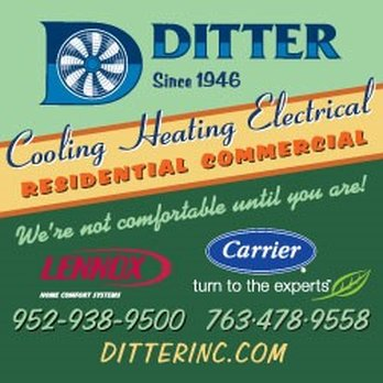 Ditter Heating Air Conditioning Hvac 820 Tower Dr Hamel Mn