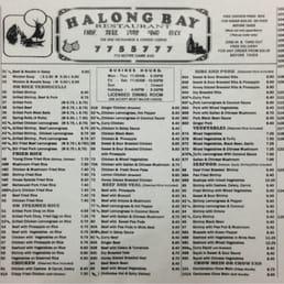 Halong bay menu