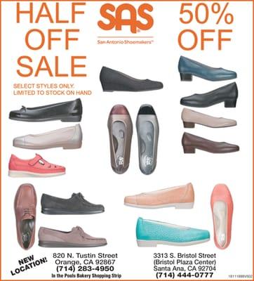 Sas Shoe Store 820 N Tustin St Orange