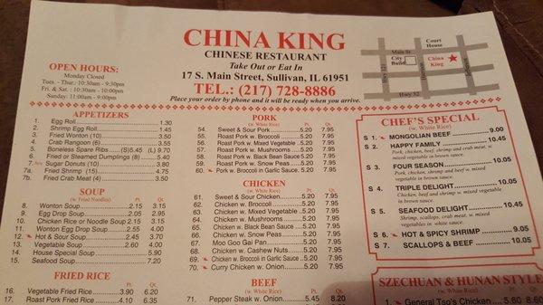 China King 17 S Main St Sullivan Il Restaurants Mapquest