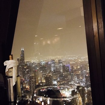 glass of cab on the 95th floor