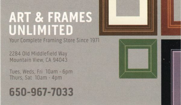 Art Frames Unlimited 2284 Old Middlefield Way Mountain View Ca Arts Crafts Supplies Mapquest