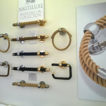 Nautical Rope Bath Accessories Towel Rings Bars And