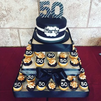 Surprising Cupcakes For My Husbands 50Th Birthday Party Yelp Funny Birthday Cards Online Elaedamsfinfo