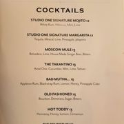 Photo of Studio One Theaters - Portland, OR, United States. Cocktail menu