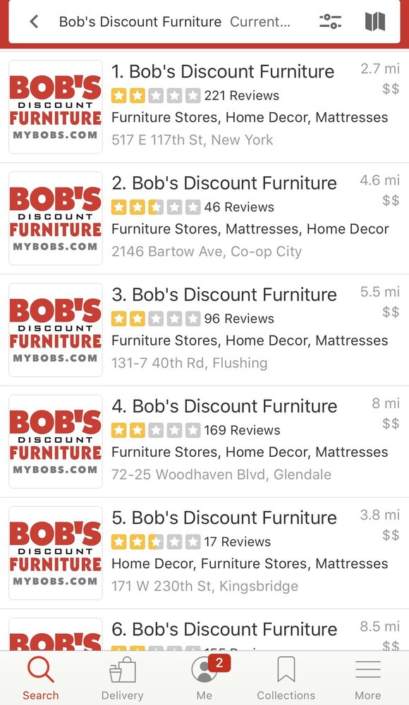 Furniture And Mattress, Bobs Furniture Central Ave